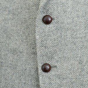 Vtg Men's 44R / 44L Man In Wool Tweed Sport Coat